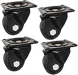 Möbelrollen 4PCS Schwerlastrollen.Universal-Rollen mit Tabletts mit Bremse.Industrietransportrollen for Nylon Räder