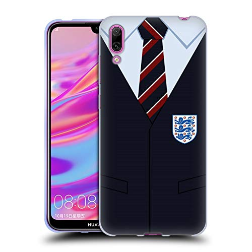 Officiële England National Football Team Southgate vest 2018/19 Crest Soft Gel Case Compatibel voor Huawei Enjoy 9 (2018)