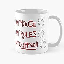 ClownZii Mystery Rules Knives Out My House Coffee Murder Best 11 oz Kaffeebecher - Nespresso Tassen Kaffee Motive