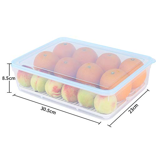 Linlyca - Juego de 4 cajas apilables de plástico para congelador ...