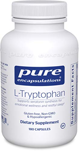 Pure Encapsulations L-Tryptophan | Amino Acid Supplement for Relaxation, Serotonin Support, PMS, Sleep, and Emotional Wellness* | 180 Capsules