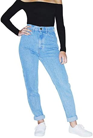 American Apparel Women s High Waist Jean Light Wash 28W 32 product image