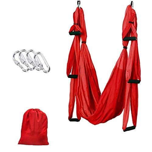 Swing Set Yoga Aérea, Aérea Yoga Hamaca, 250 X 150 Cm Nylon Hamaca De Fitness con 200 Kg De Carga para La Inversión Ejercicio Pilates Gimnasia