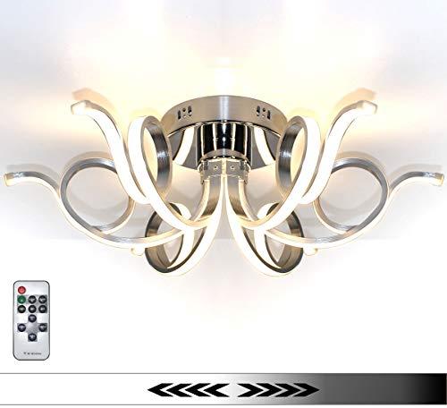 Dimmerabile XL LED plafoniera lampadario luce soggiorno salotto lusso 6 bracci bianco caldo design forma di spirale moderno 62cm Lewima Merwa