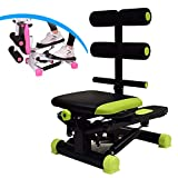WHJX Mini Stepper,Cordón 2 en 1 Steppers,con Pantalla Multifuncional Stepper Cardio Training,Máquinas de Step para Fitness,Steppers para Ejercicio en casa & Oficina(Color:Verde)