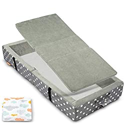 the milliard portable toddler fold away bed is convenient for travel or just at grandmas house!