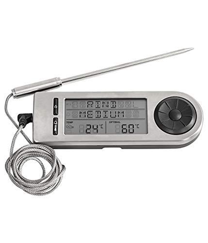 Dehner Grillzubehör Bratenthermometer digital, ca. 14.5 x 4.8 x 1.5 cm, Edelstahl, silber