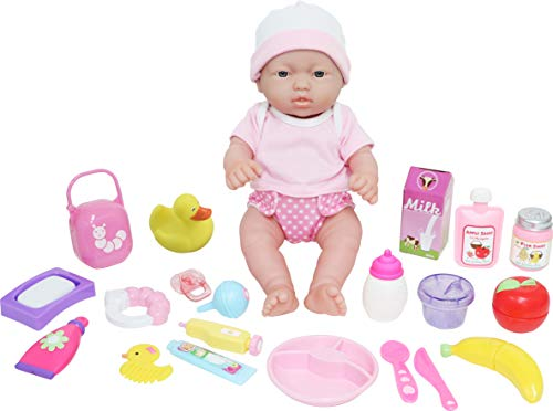 JC Toys - La Newborn Bambola bebè, colore rosa (18348)