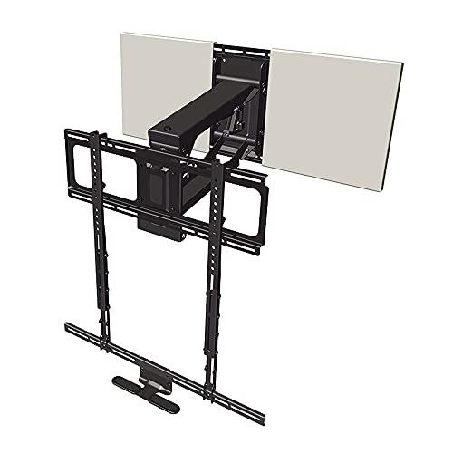 MantelMount MM700 Pro Fireplace TV Mount Pull Down Bracket for 50″-90″ & 25-115 lb Televisions Above Mantel