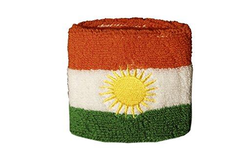 Flaggenfritze Schweißband Motiv Fahne/Flagge Kurdistan + gratis Aufkleber