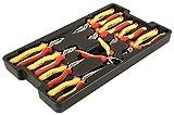 Wiha 32999Abracs Schleifrad Isolierte Zangen/Seitenschneider Tablett-Set 9-teilig