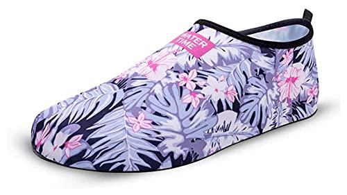 Zapatos deportivos al aire libre para hombres y mujeres antideslizantes imprimidos de corte de calzado de playa vacaciones de playa calzado de snorkel. Zapatos de agua para hombre zapatos de agua para