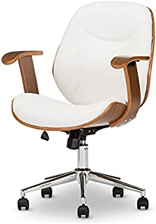Rathburn Office Chair in White and Walnut