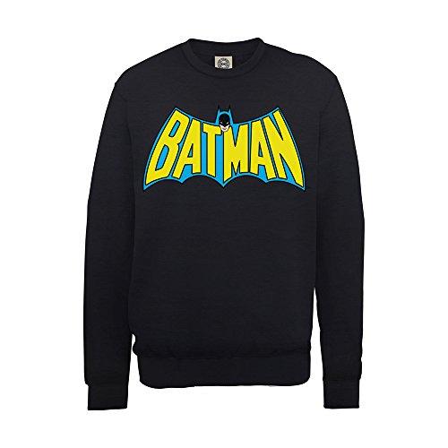 DC Universe Jungen Comics Official Batman Retro Logo-Sweatshirt, Schwarz, 7 Jahre