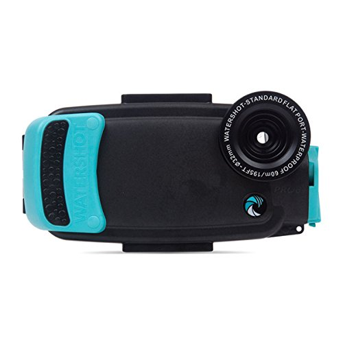 Watershot PRO Underwater Smart Phone Camera Housing Kit for iPhone 6 Plus & 6s Plus (Black/Limpet Shell) (flat + wide angle lens)