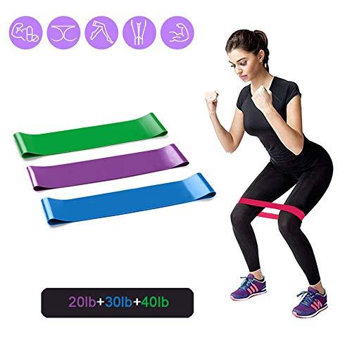 Bidetu Bandas Elasticas Musculacion, 3 Piezas Bandas De Resistencia Para Yoga, Pilates, Crossfit, Estiramientos, Musculacion, Piernas, Brazos, Fuerza, Bandas Elasticas Fitness/SET B