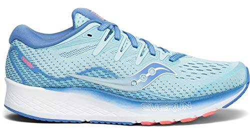 Saucony Women's S10514-1 Ride ISO 2 Running Shoe, Blue/Coral - 7 M US