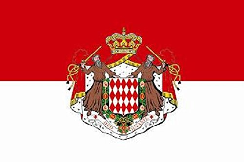 U24 Flagge Fahne Monaco mit Wappen 90 x 150 cm