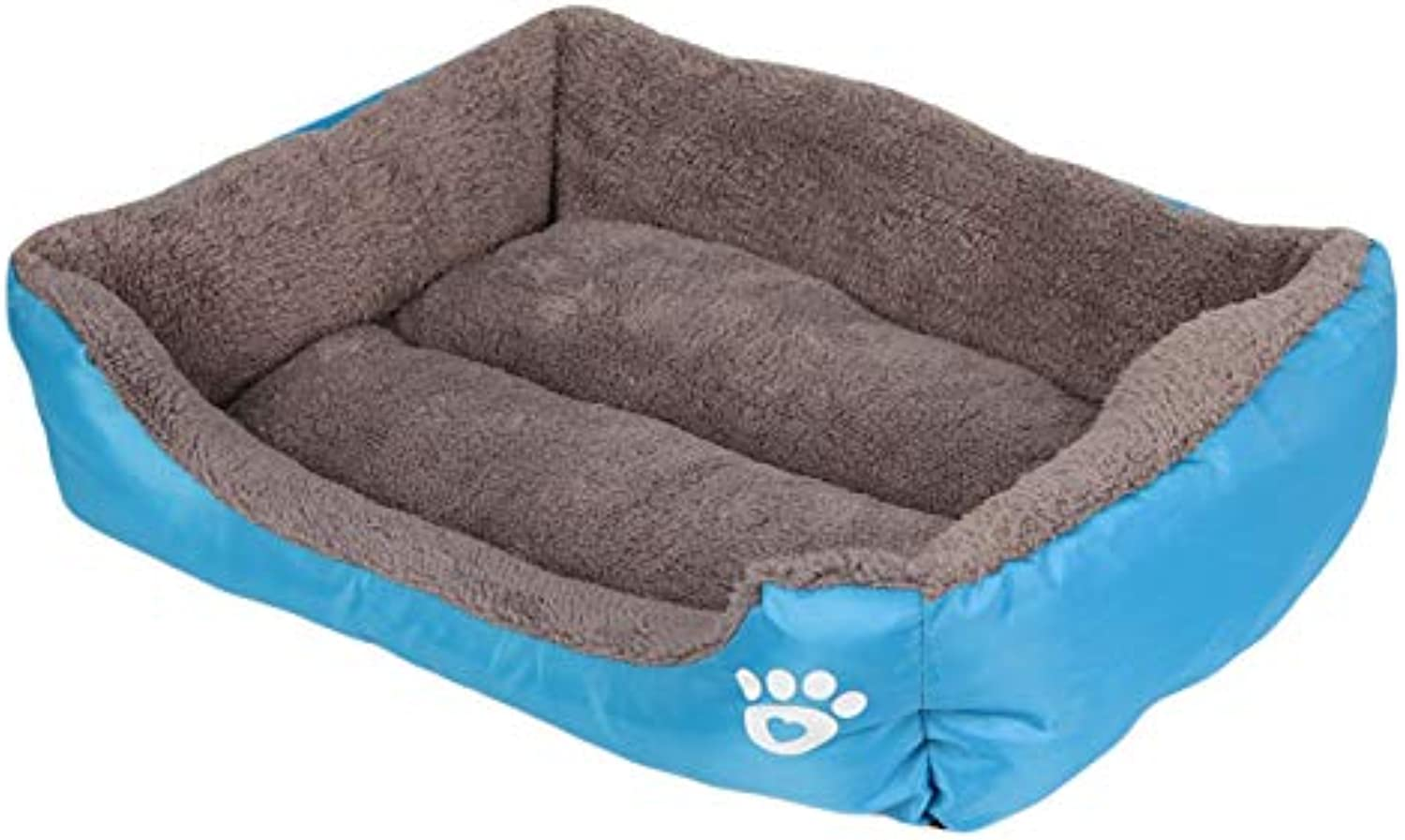 Cookisn 2XL Size Soft Cute Pet Warm Dog Bed Cozy House Fabric Cotton Pet Dog Beds for Cat Puppy Plus Big Large Dog Kennel Dropshipping bluee XL 80x60x15cm