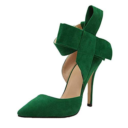 2021 Nuovo Moda sandali con tacco alto donna Estive Comode Sandali con Bowknot Cinturino alla Caviglia Scarpe da Tacchi alti in tinta unita e Boemia Roma Spiaggia Ciabatte