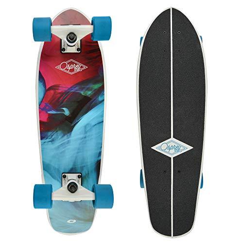 Osprey, Skateboard Cruiser in Legno d'Acero, Unisex, Completo, Bambino,...