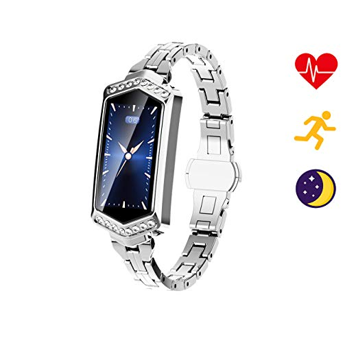 TMYIOYC Activity Tracker, Women Smart Watch Band Fitness Tracker Pedometer Heart Rate Monitor Smart Health Bracelet Blood Pressure Smart Band for Female and Lovers