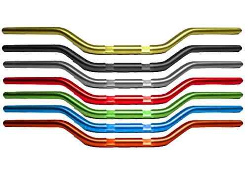 Accossato Manubrio Street Racing in alluminio HB174 piega media* - Nero