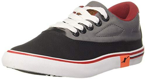 Sparx Men's Black Grey Canvas Sneakers-8 UK (SC0322G_BKGY0008)