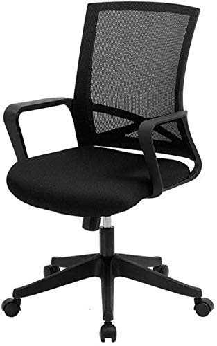 Game Chair Office Chair Game Chair, Computer Ergonomic Mesh Chair, Height Adjustable 360° Swivel Desk Chair, The Back of The Chair is 15° Black Chair -36074I2U9Y