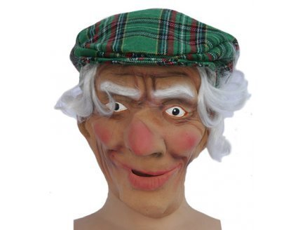 Masque ecossais avec casquette