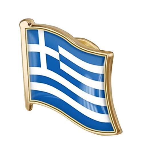 Zonster 1pc De La Solapa De La Bandera Griega Pin Pin De Metal Bandera Griega Broche De La Insignia Nacional De La Novedad De Accesorios