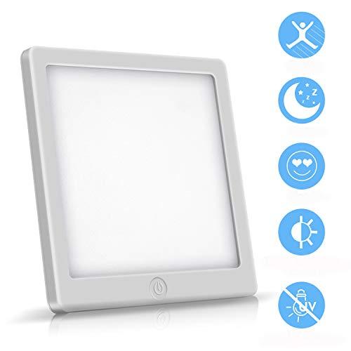 WADEO Tageslichtlampe 10000 lux, Memoryfunktion Lichttherapielampe gegen Depressionen, LED Sonnenlicht