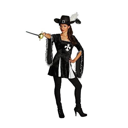 Lady Musketier Musketierkostüm Kämpferin Kostüm für Damen