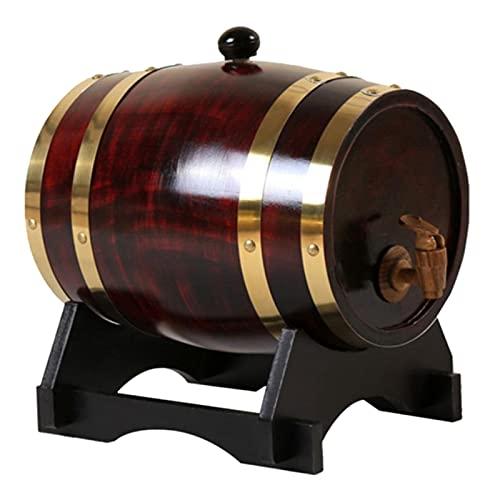 ZYNS Barril De Vino Cerveza De Cucharón De Barril De Vino para Vino Whisky Spirits Liquor Hotel Restaurant 3L / 1.5L Barril Wine Barrel Keg Dispensador De Almacenamiento para Whisky De Vino