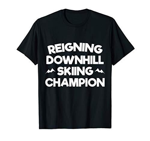 Amtierendes Abfahrtsski Champion T-Shirt