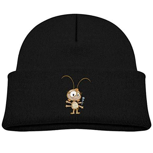 MinnSok Chapeau Chaud d'hiver de Fille de garçon de bébé, Chapeau de Bonneterie d'enfants, Ant Sing Winter Hat Knitted Skull Cap for Boys Girls Blue