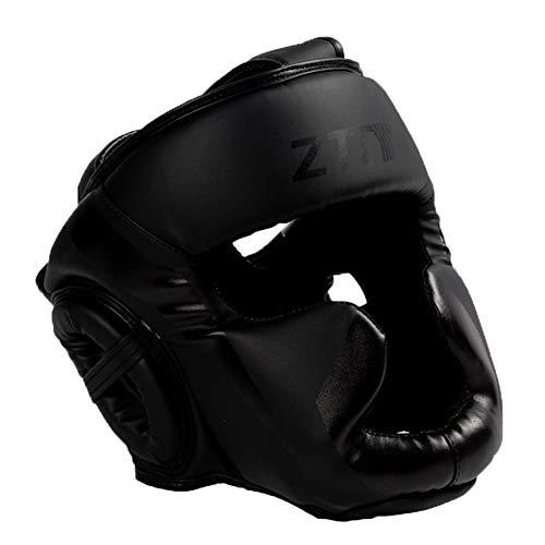 Boxing helmet Männer und Frauen, die Schutzhelm trainieren, Erwachsene Taekwondo-Kinderboxen Sanda Muay Thai-Helm, Verdickungskampf-Kopfbedeckung, bequemer, atmungsaktiver Gehörschutz gegen Helm