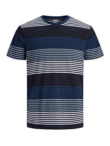 JACK & JONES Herren JCOARAF Tee SS Crew Neck T-Shirt, Faded Denim, M