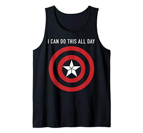 Marvel Captain America I Can Do This All Day Shield Portrait Tank Top