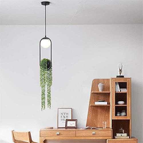 Equipo para el hogar Luces colgantes Lámpara de araña de planta simulada Lámpara moderna creativa simple Decoración de sala de estar Luces industriales modernas Lámpara de lámpara de cocina grande