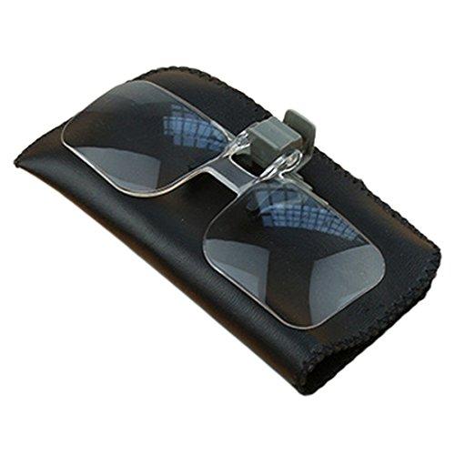 QIXINSTAR Magnifier Folding Handfree Clip On Clear Magnifying Glasses HD Lens Precise Eyeglasses Jewellery Appraisal Watch Repair Tool