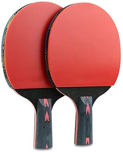 Beimi Tischtennis Set Ping-Pong Paddel Tischtennisschläger 2 Sticks Doppel Racket Professional Training Tischtennisschläger Tennisschläger Tischtennis Ping Pong