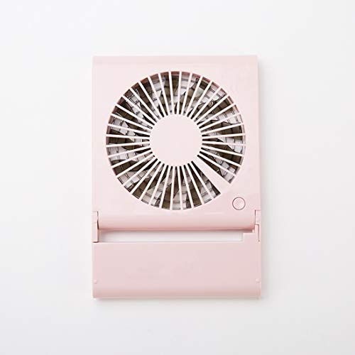 Folding USB Fan Simple Style Mini Notebook with Wind 3 Speeds on Stand(Pink) Sunshine20 (Color : Pink)