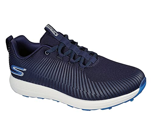 Skechers Go Golf MAX-Bolt, Zapato para Hombre Water Repellent Footwear (Navy/Blue, Numeric_43_Point_5)