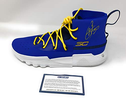 Stephen Curry Golden State Warriors Signed Autograph Rare Under Armour Curry Shoe Steiner Sports Certified