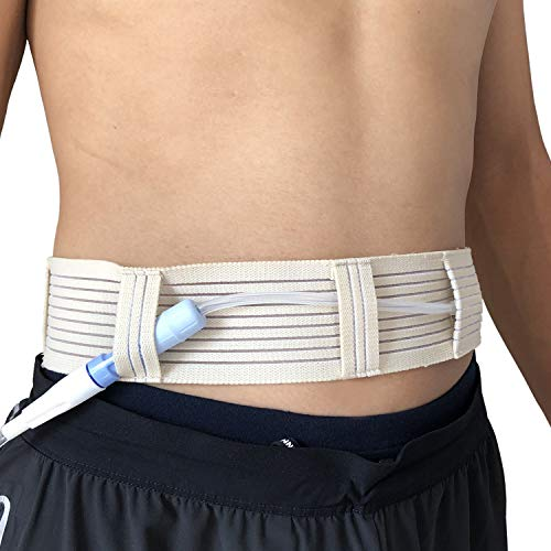 PD Catheter Belt Feeding Tube Belt G Tube Protective Fixation Device Peg Tube Cover Peritoneal Dialysis Catheter Holder for Abdominal Dialysis Patients (M(27.5'-39.4'))