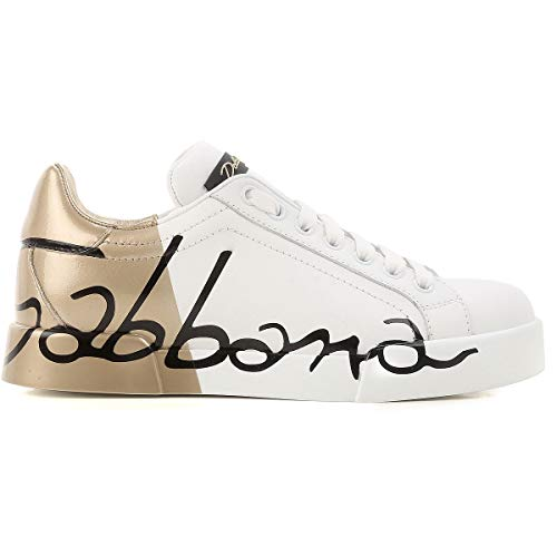 DOLCE&GABBANA CK0124AI053 Sneakers Basse Donna Oro 38