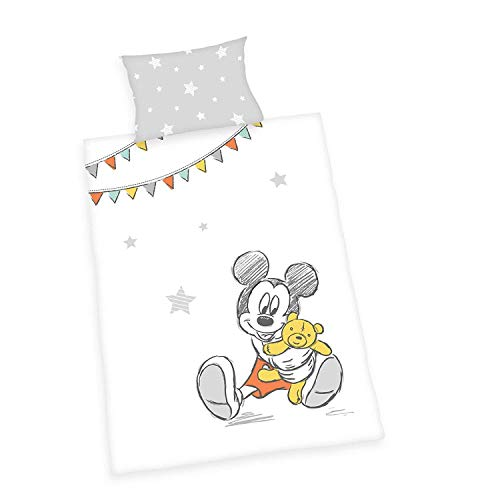 Mickey Linge de Lit Bébé Lisse Souris Ourson Walt Disney 100 X 135 Cadeau Neuf Wow - All-In-One-Outlet-24