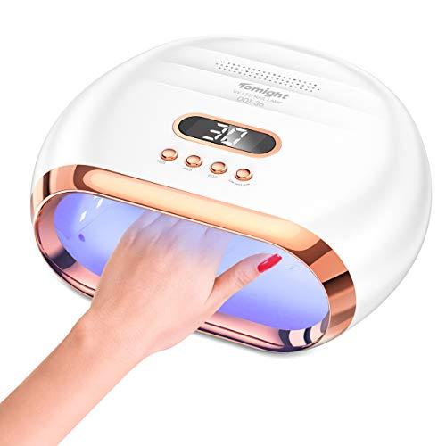 Lampada Unghie UV, tomight Lampada Gel Unghie LED da 72W per Manicure Pedicure con Automatico Sensore, 3 Timers da 10 30 60, Display LCD per Salone e Uso Domestico