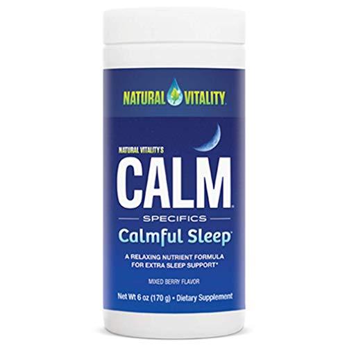 Natural Vitality Natural Calm Specifics CALMFUL SLEEP (Mixed Berry Flavor) 6 ounces